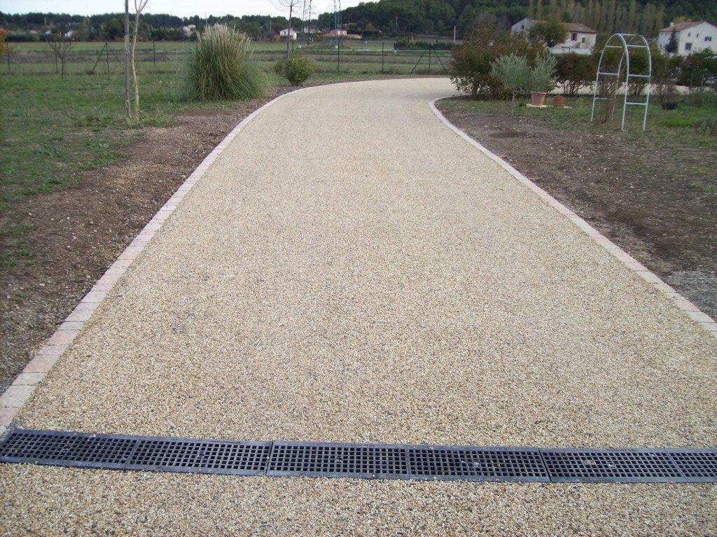 Strada Enrobé - Bicouche jaune et pavé